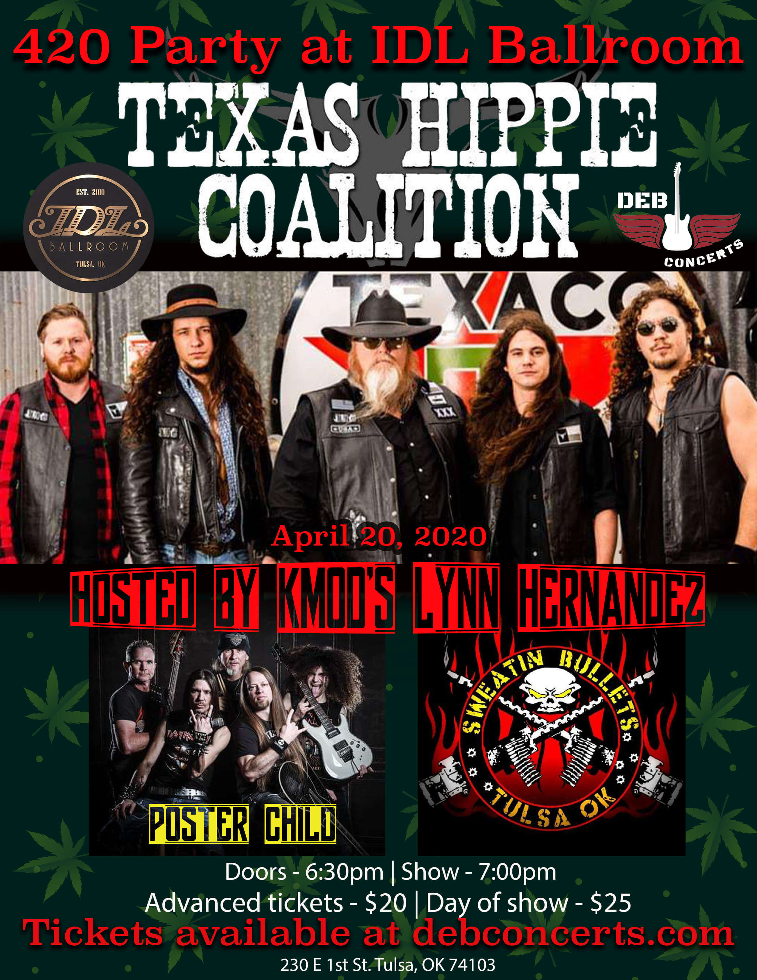 Texas Hippie Coalition w/ special guests Poster Child & Sweatin Bullets