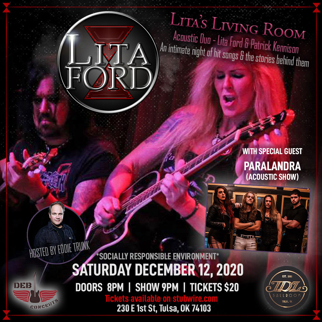 CANCELLED : Lita Ford with Paralandra (Acoustic Show)